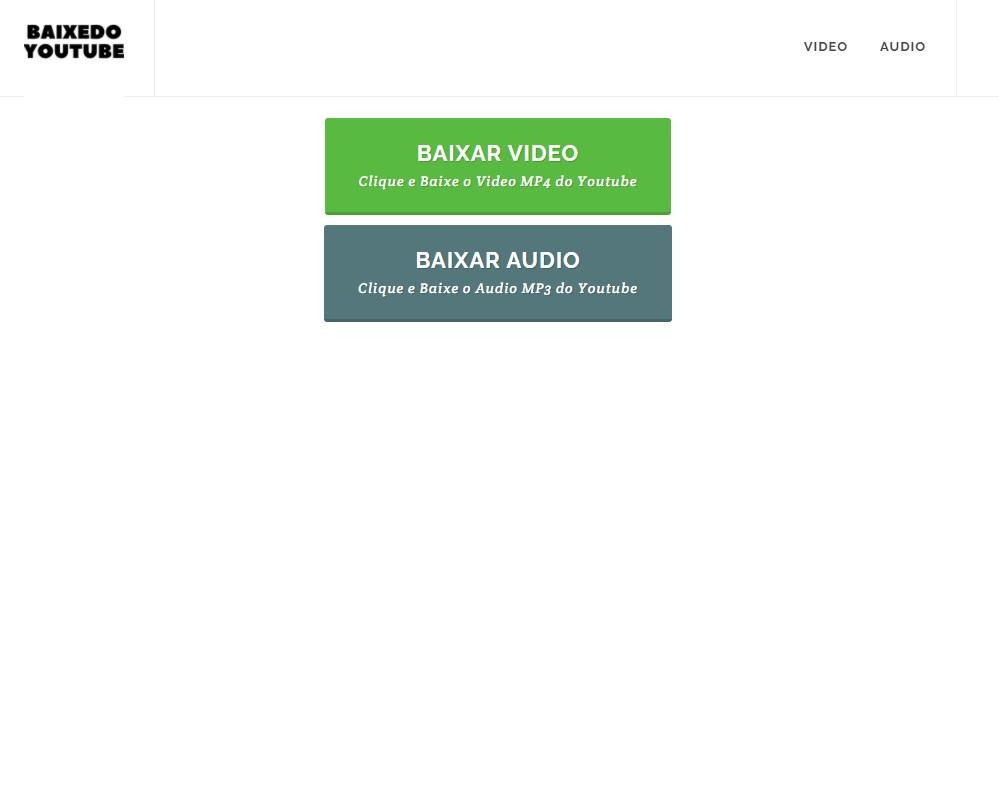Baixe do Youtube Áudio e Vídeo